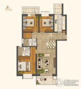 世茂外滩新城3室2厅2卫143平方米户型图