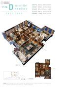 联发君悦华府4室2厅2卫142平方米户型图