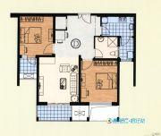 恒力・水木清华2室2厅1卫95平方米户型图