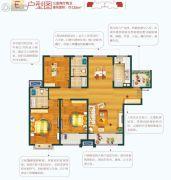 万科・幸福里3室2厅2卫125平方米户型图
