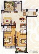 阳光龙庭2室2厅2卫115平方米户型图