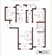 花香漫城3室2厅2卫131平方米户型图
