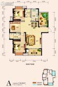 天鸿中央大院4室2厅2卫119平方米户型图