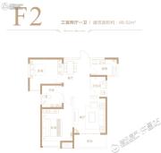 德正西湖春天3室2厅1卫99平方米户型图