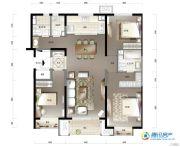 万科假日风景3室2厅2卫133平方米户型图