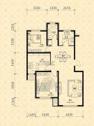 中东凯悦公馆3室2厅1卫101--106平方米户型图
