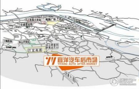 宜昌简单手绘地图