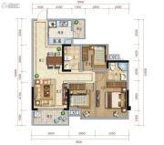 保利心语3室2厅2卫89平方米户型图