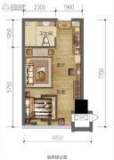 绿地城1室1厅1卫41平方米户型图