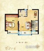 同祥城1室2厅1卫0平方米户型图