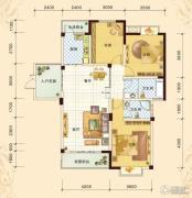 春风玫瑰园3室2厅2卫120平方米户型图