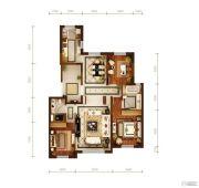 华润・橡树湾3室2厅2卫145平方米户型图