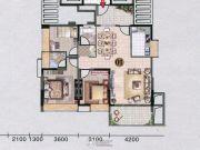 红棉雅苑3室2厅2卫114平方米户型图