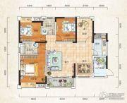 成邦・华夏公馆3室2厅2卫136平方米户型图