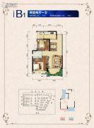邦泰・国际社区(北区)2室2厅1卫70平方米户型图