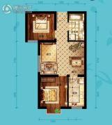 北海・水印泉山2室2厅1卫77平方米户型图