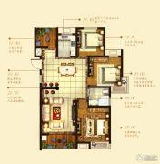 中铁诺德誉园3室2厅1卫113平方米户型图