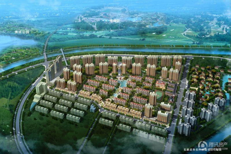 百岛绿城鸟瞰图