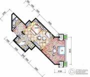 东和福湾1室1厅1卫68平方米户型图