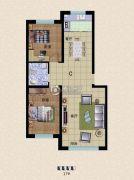 东方俪城2室2厅1卫77平方米户型图