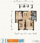 清苑尚景2室2厅1卫0平方米户型图