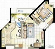 高成天鹅湖1室1厅1卫59--62平方米户型图