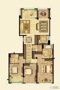 金鼎湾如院4室2厅3卫182平方米户型图