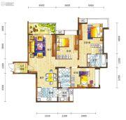 新鸿基悦城3室2厅2卫141平方米户型图