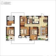 中海国际社区3室2厅1卫89平方米户型图
