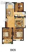 美麟・常青藤3室2厅1卫119平方米户型图