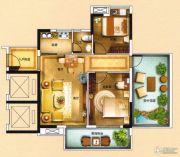 海泉湾2室2厅1卫93平方米户型图