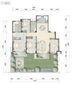 世合理想大地・望湖居4室2厅2卫180平方米户型图
