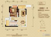 金融街融景城1室2厅1卫45--59平方米户型图