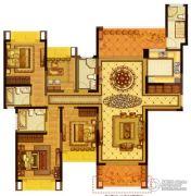 雅居乐滨江国际4室2厅3卫178平方米户型图