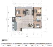 医大广场3室2厅2卫122平方米户型图