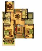 合力・铂金公馆3室3厅2卫114--142平方米户型图