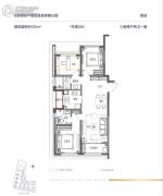 融创・大同府3室2厅2卫105平方米户型图