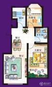 天赐椿城一期嘀嗒2室2厅1卫75平方米户型图