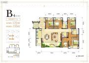 金辉中央�著4室3厅2卫0平方米户型图