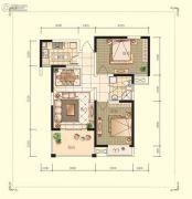 观山名筑2室2厅1卫89平方米户型图