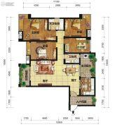 中交锦湾一期4室2厅2卫158平方米户型图