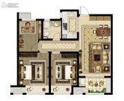 绿都澜湾3室2厅1卫97平方米户型图