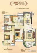 碧桂园东洲壹�院3室1厅2卫144平方米户型图