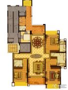 雅居乐滨江国际3室2厅3卫195平方米户型图