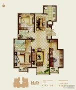 首开熙悦山熹园3室2厅2卫103平方米户型图
