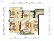 嘉福锦里3室2厅2卫85--117平方米户型图