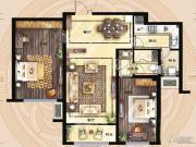 保利海德公馆2室2厅1卫113平方米户型图