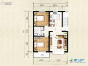祥和馨筑2室2厅1卫87平方米户型图