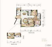 星河丹堤花园3室2厅2卫104--109平方米户型图