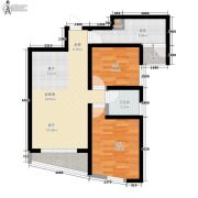 捷恒・悦城2室0厅1卫68平方米户型图